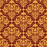 Orange seamless wallpaper Royalty Free Stock Images