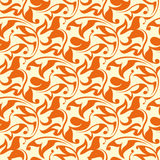 Orange seamless wallpaper pattern. For design Royalty Free Stock Images