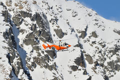Orange search and rescue chopper Royalty Free Stock Photo