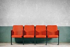 Orange seats Royalty Free Stock Photos