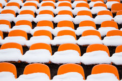 Orange seats stock images