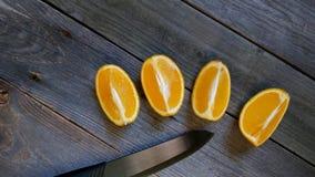 Orange sectional Stock Photo