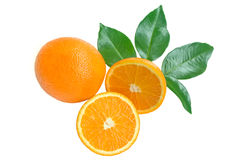 Orange and sections Royalty Free Stock Photography