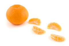 Orange and Sections Stock Photography