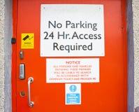 Orange security door. Royalty Free Stock Images
