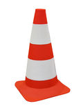 Orange security road barrier sign isolated, royalty free stock photo