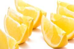 Orange segment background close up stock photography