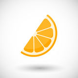 Orange segment  flat icon Stock Photo