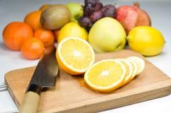 Orange Segmente Stockfoto