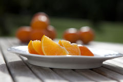 Orange Segmente Lizenzfreie Stockfotos