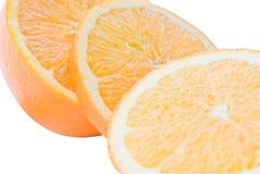 Orange Segmente (getrennt) Lizenzfreies Stockbild