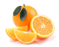 Orange with segments Royalty Free Stock Image