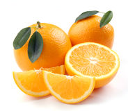 Orange with segments Stock Photos