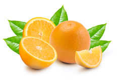 Orange with segments Royalty Free Stock Images