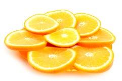 Orange segments Stock Photo