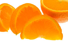 Orange segments Stock Photos