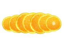 Orange segments. On a white background Royalty Free Stock Photos