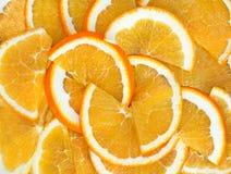 Orange segments Stock Photos