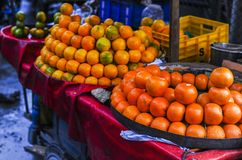 Orange sell at the store in India. During winter Stock Photos