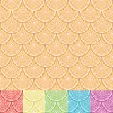 Orange Semaless Muster Stockfotografie