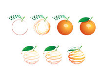 Orange sequence Royalty Free Stock Photography