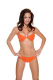 Orange Sequined Bikini Stock Photo