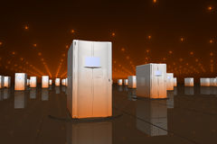 Orange servers Royalty Free Stock Photography