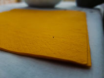 Orange servett Arkivbild