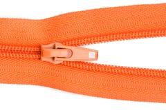 Orange sewing zipper Royalty Free Stock Image