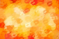 Orange sexy and juicy kiss background. Orange sexy kiss abstract background Stock Images