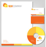 orange shades Company stationery Stock Photos