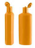 Orange shampoo bottle Stock Images