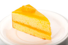 Orange sheet cake Stock Photography