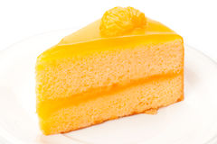 Orange sheet cake Royalty Free Stock Photo