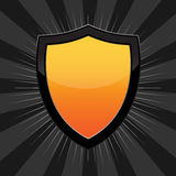 Orange Shield Stock Photo