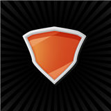 Orange shield Royalty Free Stock Photo