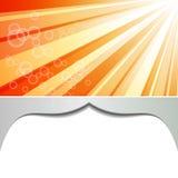 Orange shiny background Stock Image