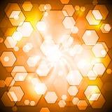 Orange shiny vector background Stock Images