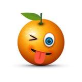 Orange shocked emoji Stock Photography