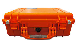 Orange shockproof security case Stock Image