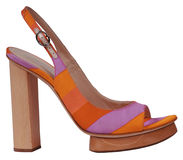 Orange shoe Royalty Free Stock Photos