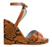 Orange shoe Royalty Free Stock Images