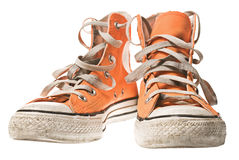 Orange shoe, isolated on white Royalty Free Stock Photos