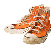 Orange shoe, isolated on white. [with clipping path Royalty Free Stock Image