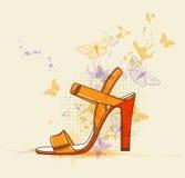Orange shoe Royalty Free Stock Photography