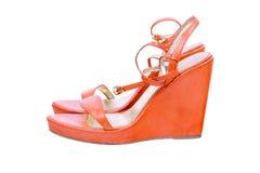 Orange shoes Stock Images