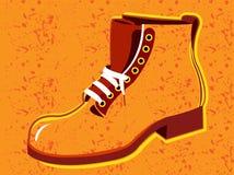 Orange Shoes. Orange shoe and white tie background Royalty Free Stock Photos