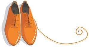Orange_shoes Imágenes de archivo libres de regalías