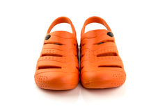 Orange shoes isolate on white background Stock Image