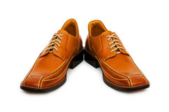 Orange shoes isolated Royalty Free Stock Photo